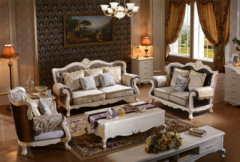 Sectional Sofa Chair New Arriveliving Antique European Style Set Fabric Hot Sale Low Price
