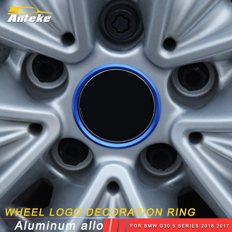 ANTEKE Auto voiture roue logo décoration anneau accessoires pour BMW G30 5 série 2018