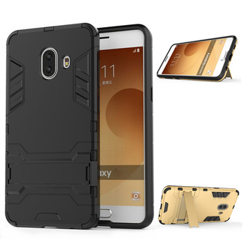 For Samsung Galaxy C10 Case 6.0 inch Luxury Stealth Stents Back Cover Stand Case For Samsung C10 C9150 SM-C9150 Full Phone Cases