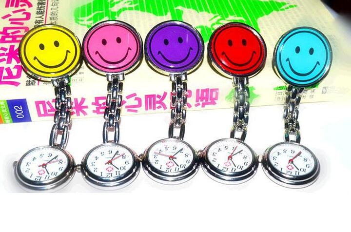 Wholesale 20 PCS/lot Round Face Doctors And Nurses Watch Hours More Color Stainless Steel Dedicated Watches Gift