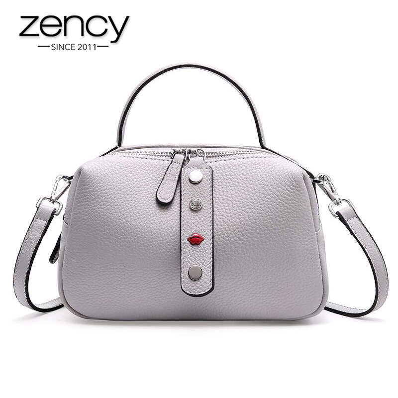 Zency 100 Real Cowhide Leather Fashion Lady Crossbody Bag High Quality Tote Handbag Pillow Shoulder Bags