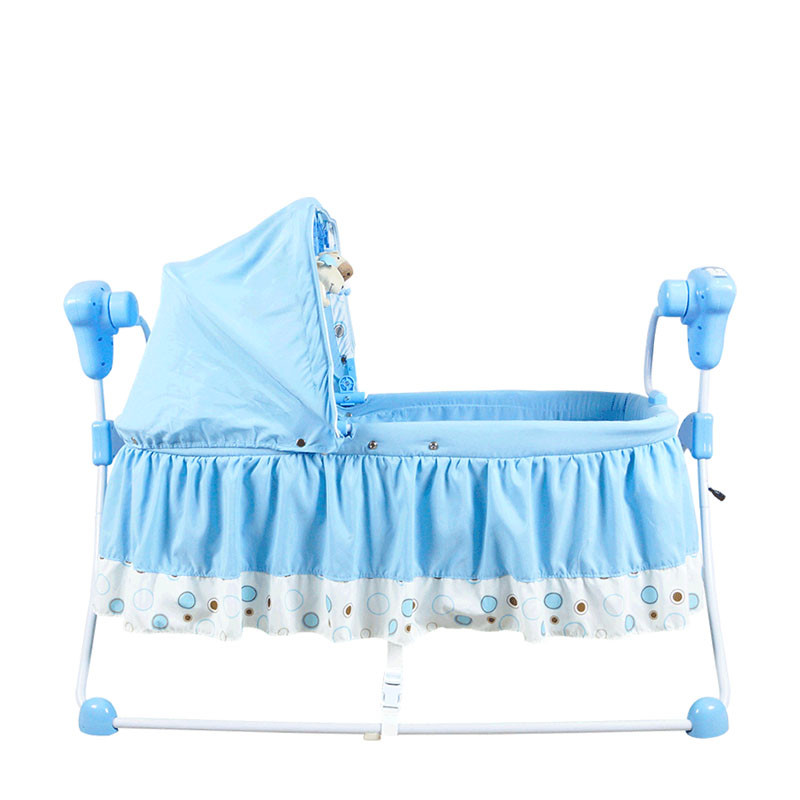 High Quality Multifunctional Electric Baby Cradle Baby Crib Intelligent Portable Folding Cradle with Music and Mosquito Net fashion electric baby crib baby cradle with mosquito nets multifunctional music baby cradle bed