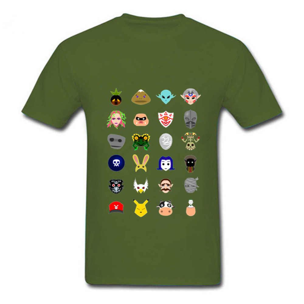 2018 nombre de la marca de la leyenda de Zelda Majoras máscara Camisetas de los hombres T camisa cráneo chico pintura uomo hombre Kanye camiseta