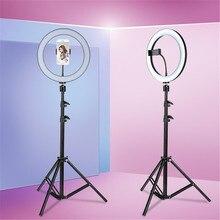 10 дюймовый светодиодный светильник для видеосъемки с 62 дюймовым штативом, держатель для телефона, заполняющий кольцевой светильник для студийной фотосъемки на Youtube
