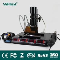 YIHUA 1000B 3 Functions in 1 Infrared Bga Rework Station SMD Hot Air Gun + 540W Preheating Station + 75W Soldering Irons