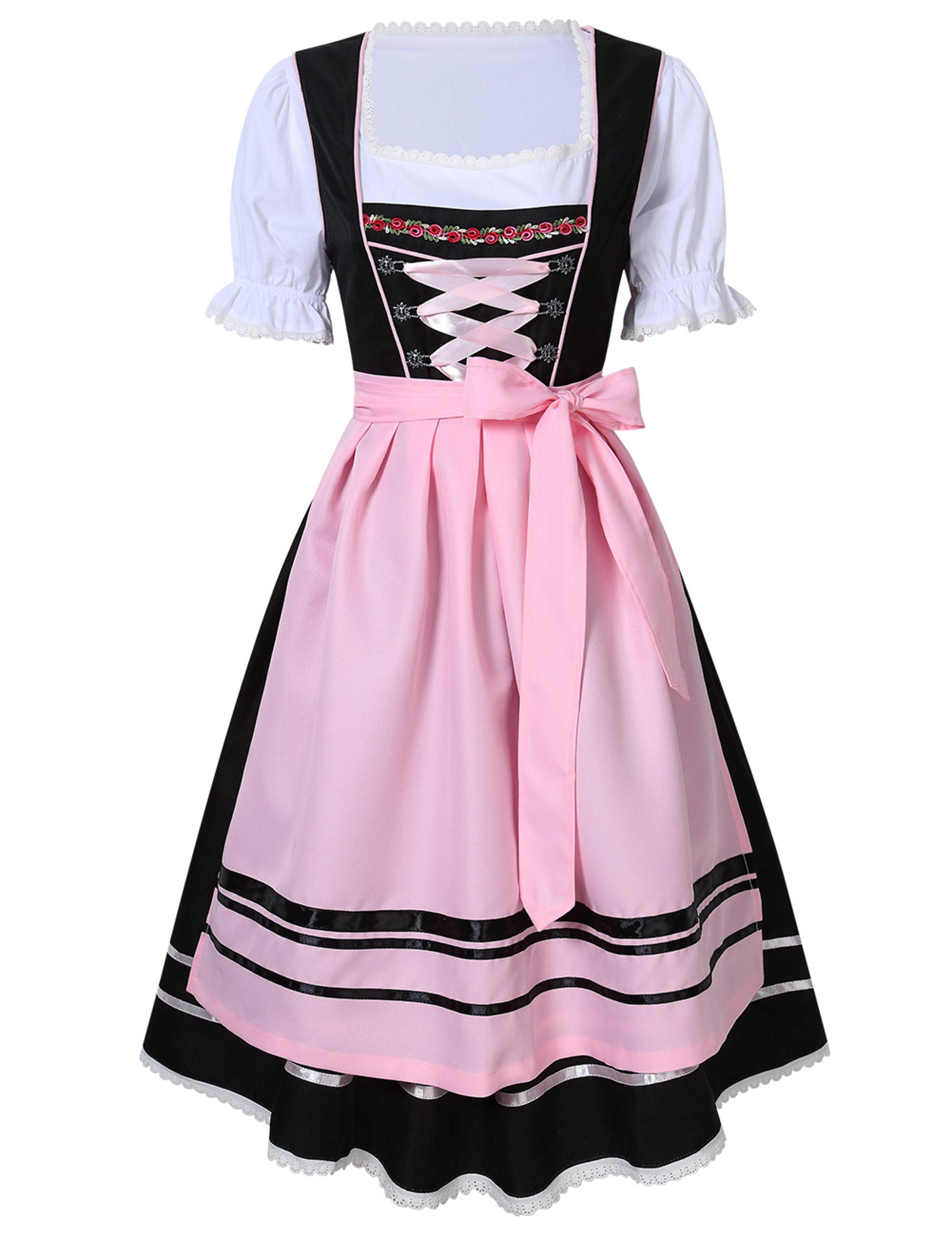 Ladies Oktoberfest Dirndl Taverniere Festival Carnival Costume Deguisement Short 3PC Waitress Beer Maid Girl Fancy Dress