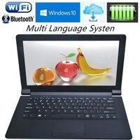 Ультратонкий 11,6 дюймов Intel Z3735F 1,33 ГГц 4 ядра ноутбук компьютер Windows 10 J1800 J1900 Wi Fi webcamta Нетбуки с бесплатной доставкой DHL