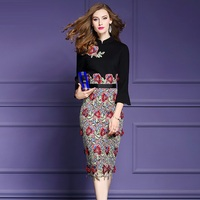 Work Office sexy dress 2018 Spring autumn Clothes women Slim elegant ladies  Retro Dress plus size 10696f37cccf