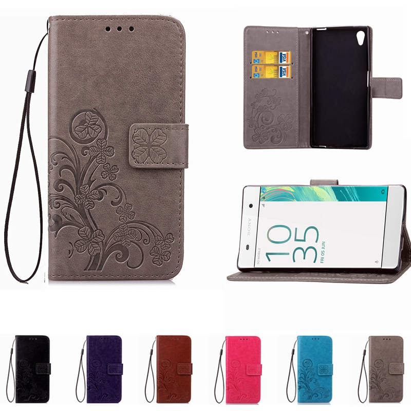 Printing Leather Phone Case Wallet Cover For Sony Xperia Z1 Z2 Z4 Z3 Z5 Compact XA X Performance Compact XZ XR Flip Stand Book