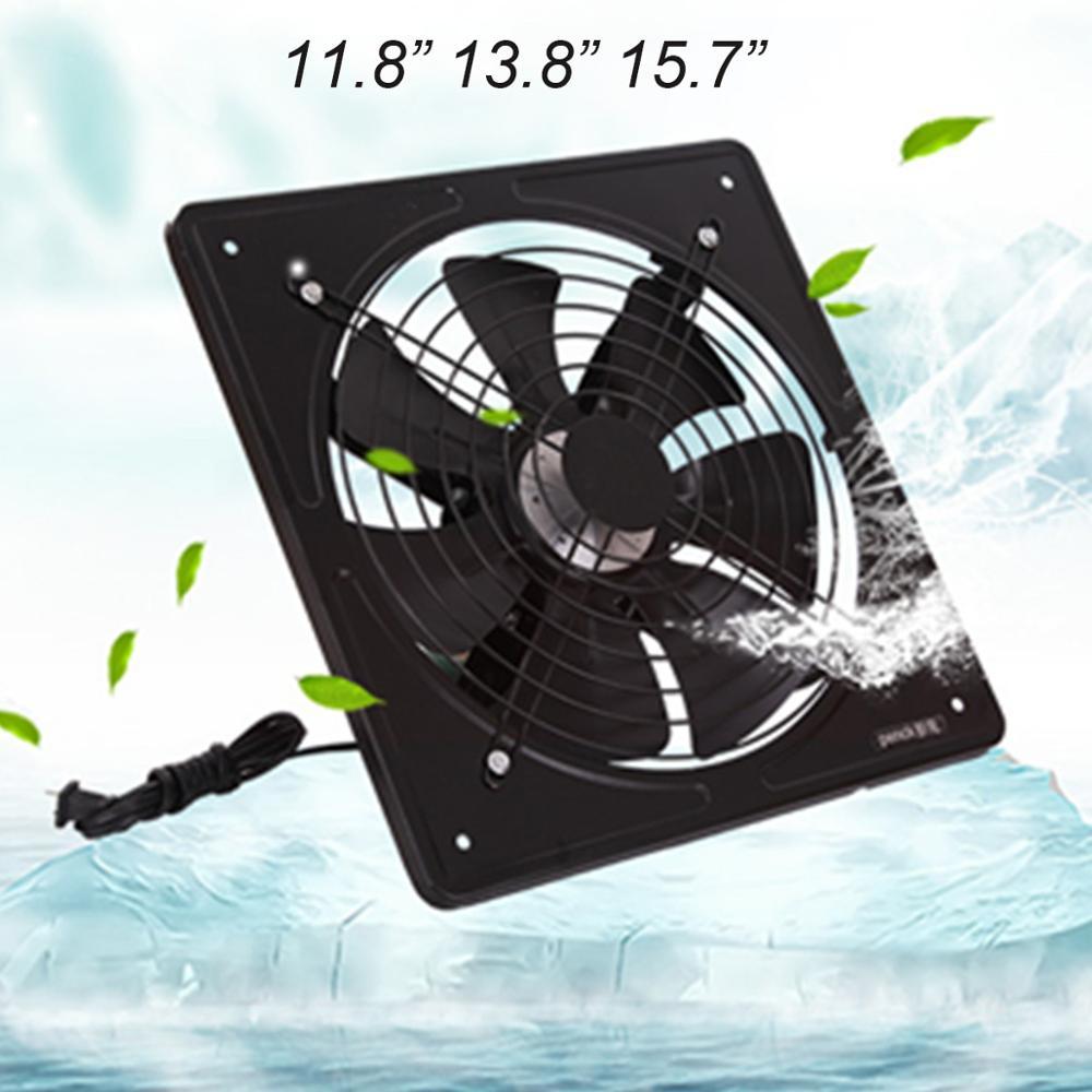 Ev Aletleri'ten Fanlar'de 220V 11.8 ~ 15.7 inç egzoz fanı yüksek hızlı hava çıkarıcı pencere havalandırma fanı mutfak ventilatör için eksenel endüstriyel duvar tipi Fan title=