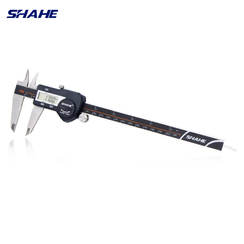 IP54 SHAHE Digitale A CRISTALLI LIQUIDI Compasso Righello Digitale 0-200mm 0.01 In Acciaio Inox Vernier Pinze strumenti di misura