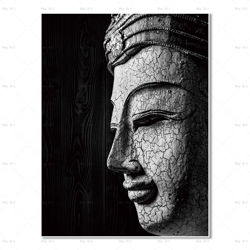Frameless Wall Art Canvas HD Printed Pictures Buddha Canvas Painting Artwork for Walls Abstract Posterfor Living Room in Painting Calligraphy from Home Garden