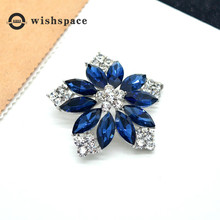 The new 2019 European and American fashion temperament crystal flower brooch high-grade refined atmosphere silk corsage pin clot