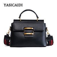 Hot Sale PU Leather Women Handbag Vintage Women Messenger Bag Fashion Lock Female Tote Bag Flap