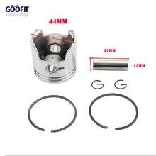 GOOFIT 44 мм поршневые кольца в сборе для 2-х тактный двигатель 49cc карман велосипед аксессуары мотоцикла поршень K082-055