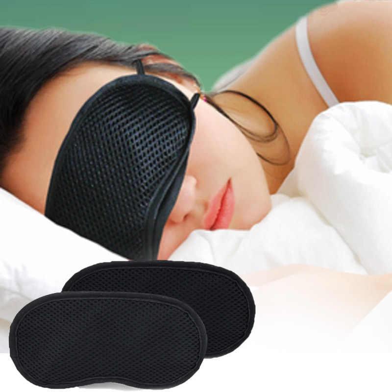 במבוק פחם השינה מסכה לעיניים נסיעות שאר אורך מתכוונן סיוע השינה כיסוי עיניים תחבושת רטייה מתנה לגבר נשים