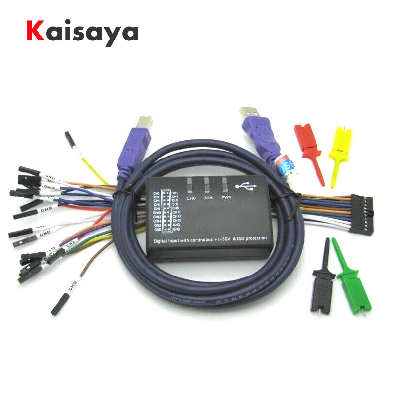 Nuevo USB lógica 100 MHz 16Ch analizador lógico para el brazo FPGA E4-004