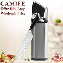 Ножи из нержавеющей стали столовый набор для кухни нож подставка из набора точилка для овощей утилита сантоку шеф-повара нарезки хлеба стальные ножи