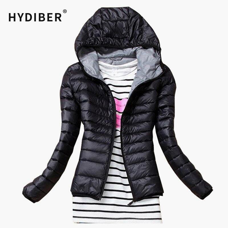 Jackets: 2015 Autumn Winter Women Basic Jacket Coat Female Slim Hooded Brand Cotton Coats Casual Black Jackets