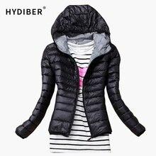 Тавра основные виды вскользь черные капюшоном куртки хлопка женский тонкий пальто