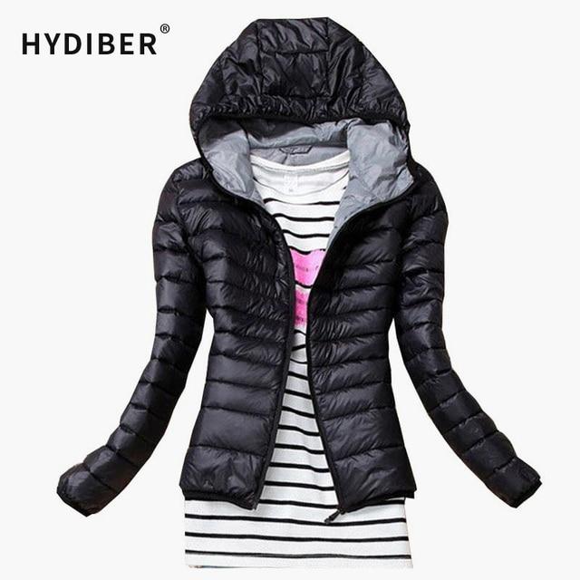 2017 New Brand Autumn Spring Women Basic Jacket Female Slim Zipper Hooded Cotton Coats Casual Black Winter Jackets