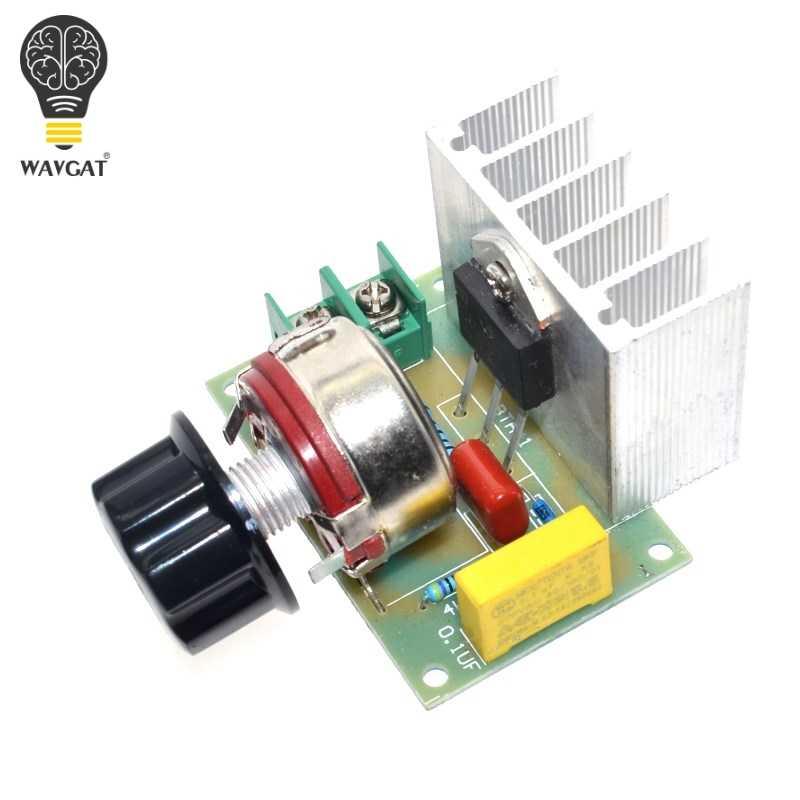 1Pcs Voltage Regulator Voltage Speed Controller AC 220V 4000W SCR Dimmer