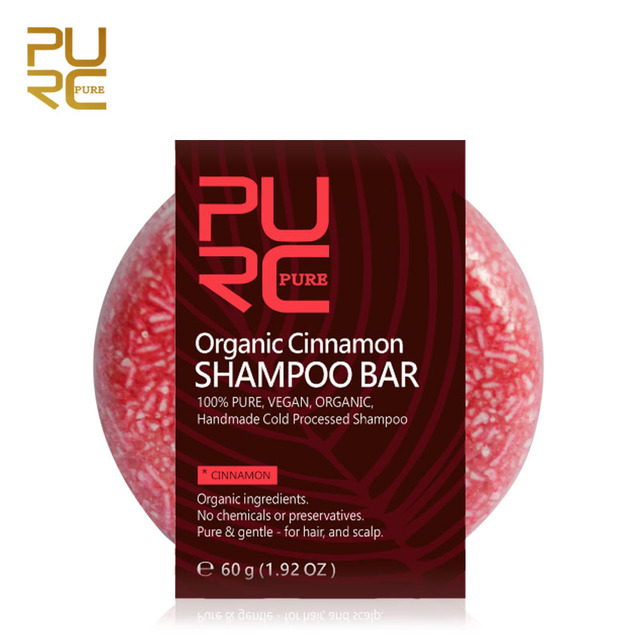 PURC Canela Orgânica artesanal processado a frio Bar Shampoo 100% PURO e Canela shampoo cabelo sem produtos químicos ou conservantes