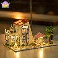 Хонгда DIY большой размер Кукольный Дом 3D Ручной Деревянные Собирает Модель Строительство Комплекты Миниатюрный Кукольный Домик