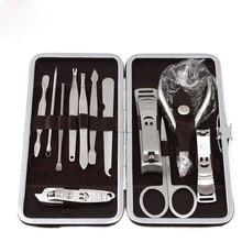12 PCS/set Nail Art Manicure Tools Set Manicure Sets Stone Pattern Case For Nail Manicure Nails Clipper Scissors Tweezer Knife стоимость