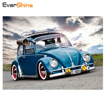 EverShine Diamond Painting Car Full Square Picture of Rhinestones 5D Full Diamond Embroidery Cross Stitch Mosaic Kits Gifts