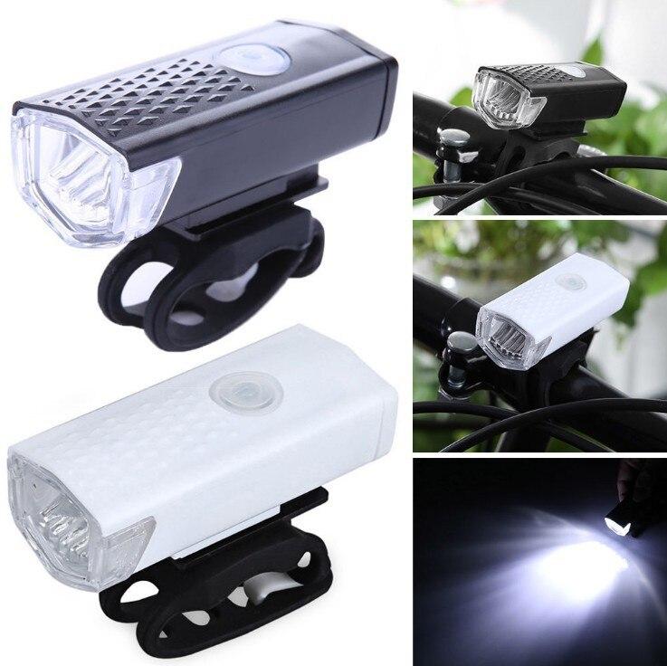 Best Bicycle Front Light USB Rechargeable Bike Headlight 300 Lumen 3 Mode Bike Lights Lamp LED Flashlight Lantern Cycling Accessories 0