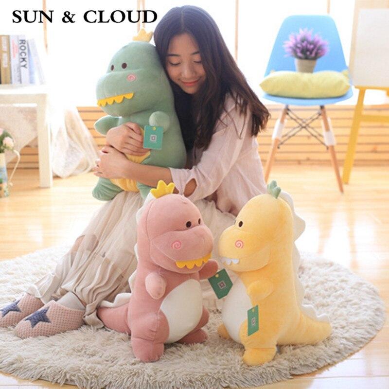 SUN & CLOUD 1 Pcs The Dinosaur Toy Gifts for Children Mr Dinosaur Toys Reassure Plush Dolls My Girlfriend a Gift