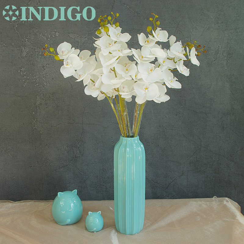 INDIGO- Phalaenopsis Orchidee Zijde Real Touch Flower Kunstbloem - Feestversiering en feestartikelen - Foto 2