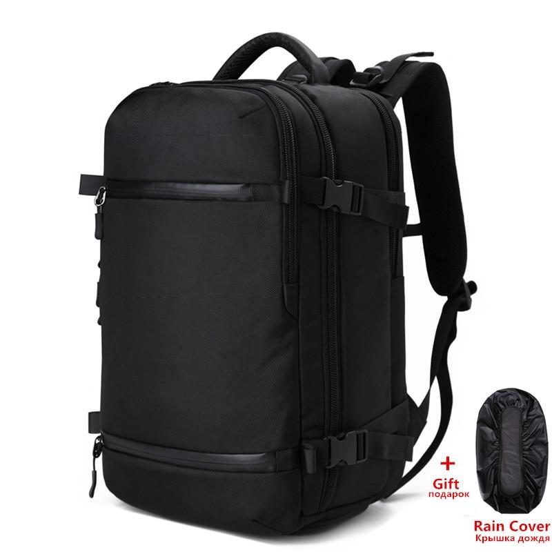OZUKO hombres de mochila paquete de viaje bolso hombre mochila de equipaje USB de gran capacidad impermeable multifuncional portátil mochila mujer AER