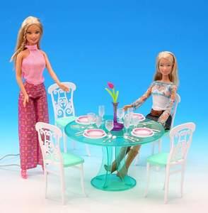 Mesa de comedor original para barbie, muebles de princesa, accesorios de cocina, muñeca 1/6 bjd, juego de mesa de comedor, silla en miniatura