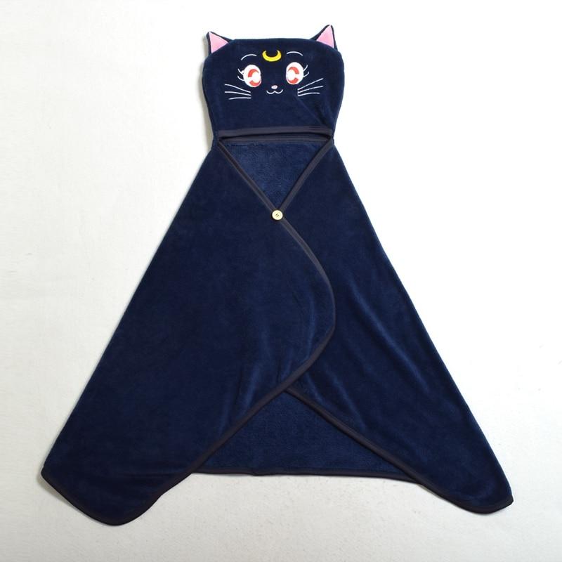 Anime Fleece Cloak Қыздар Cute Sailor Collar Luna Cat Shawls - Костюмдер - фото 2