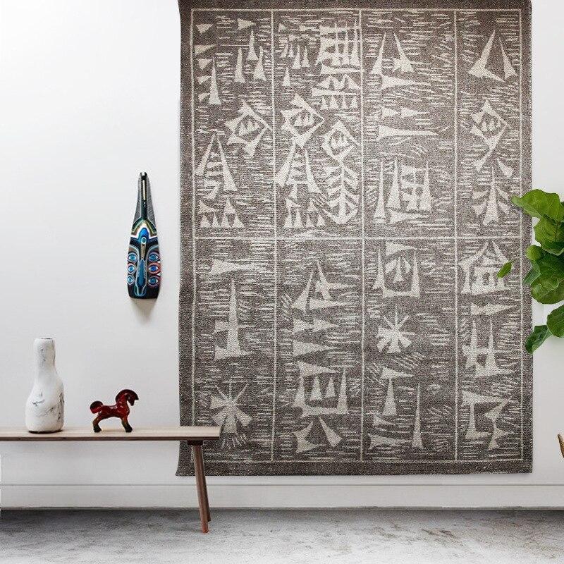 Tapis de laine Pure européenne tapis de décoration d'art de haute qualité tapis de salon moderne sans teinture Imitation tissé à la main grand tapis