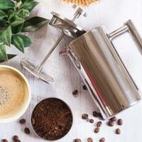 304 Stainless Steel French Press Coffee Plunger Press Pot Coffee Pot Maker with Strainer Double Insulation Teapot 350/800/1000ML