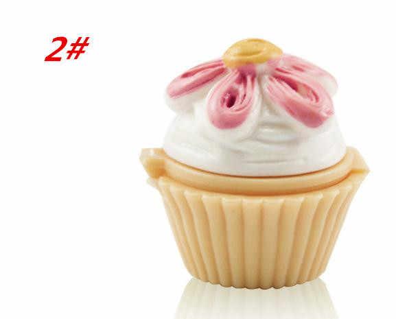 1Pcs Leuke Cupcake Lipgloss Make-Up Batom Waterdichte Voedzaam Moisturizer Hydrating Lipstick Balm Geschenken