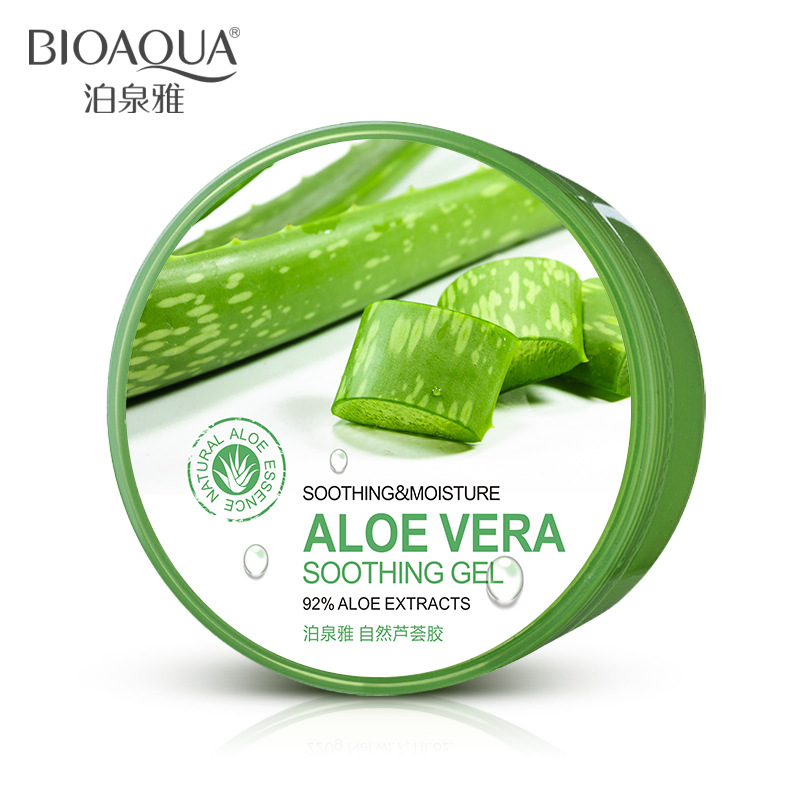 bioaqua new soothing moisture aloe vera gel 92 facial cream replenishment sun repair face skin. Black Bedroom Furniture Sets. Home Design Ideas