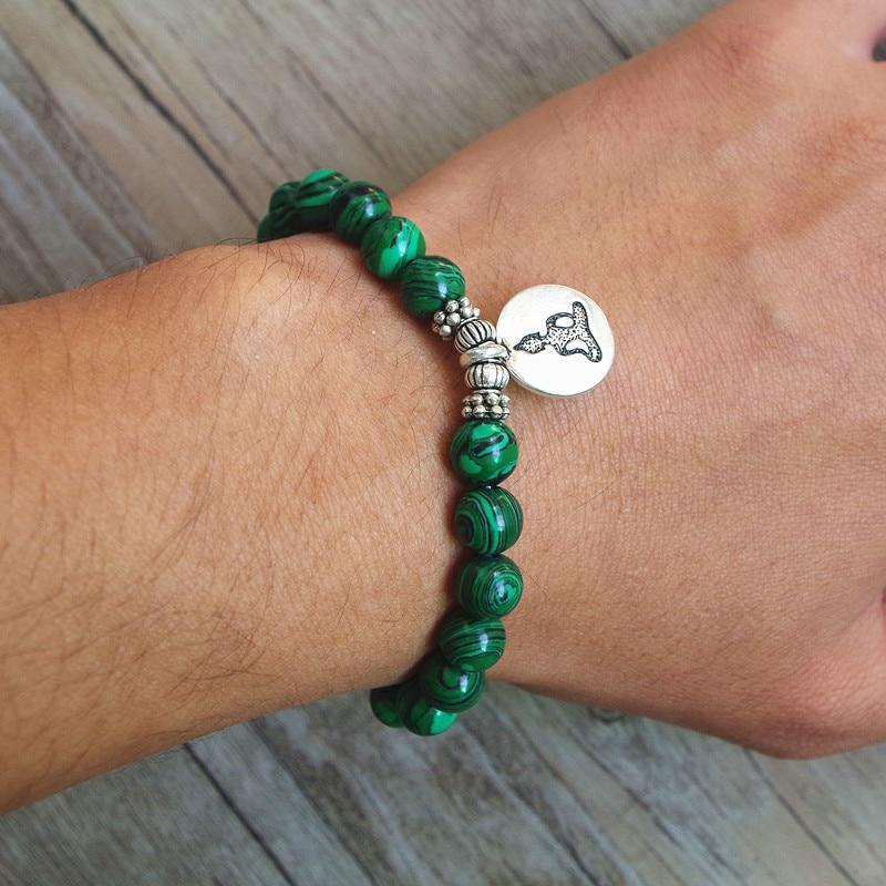 Malachite Mala Bracelet 5