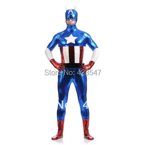 Blue & red & white metal The Avengers Costumes Captain America costume Halloween Costumes