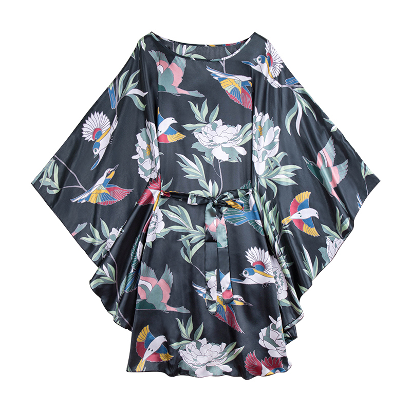 Larger Size Women Black Nightgown 6XL 7XL 8XL Lady Casual Sleepwear Loose Bigger Night Dress Flower Nightdress Print Kaftan Gown