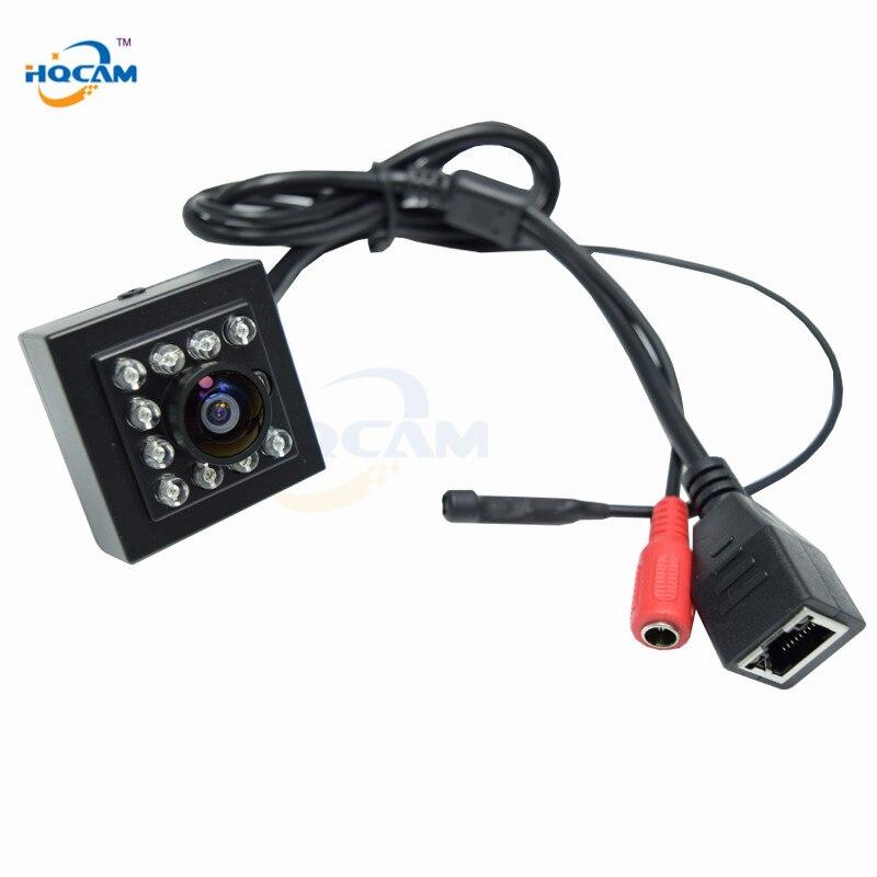 HQCAM 720P Wide Angle Night Vision MINI IR 940nm Leds Onvif 2.0 Cctv Ir Mini IP Camera Microphone Audio Camera IR CUT IP CAMERA цена