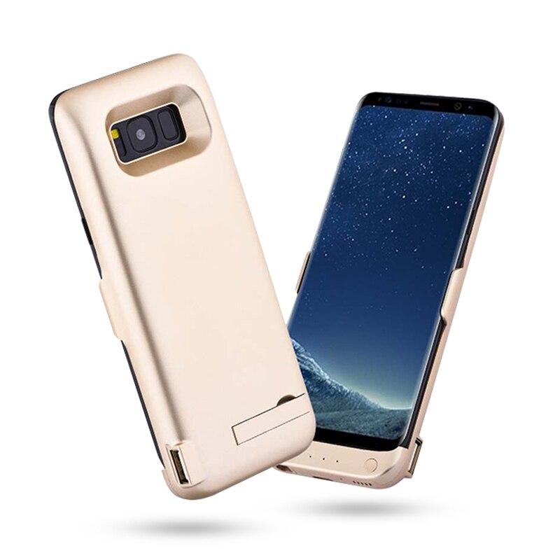 Chargeur de batterie étui pour samsung Galaxy S8 S8 Plus S8 + S 8 boîtier d'alimentation cas de batterie externe sans fil couvercle Stander 6500 mAh