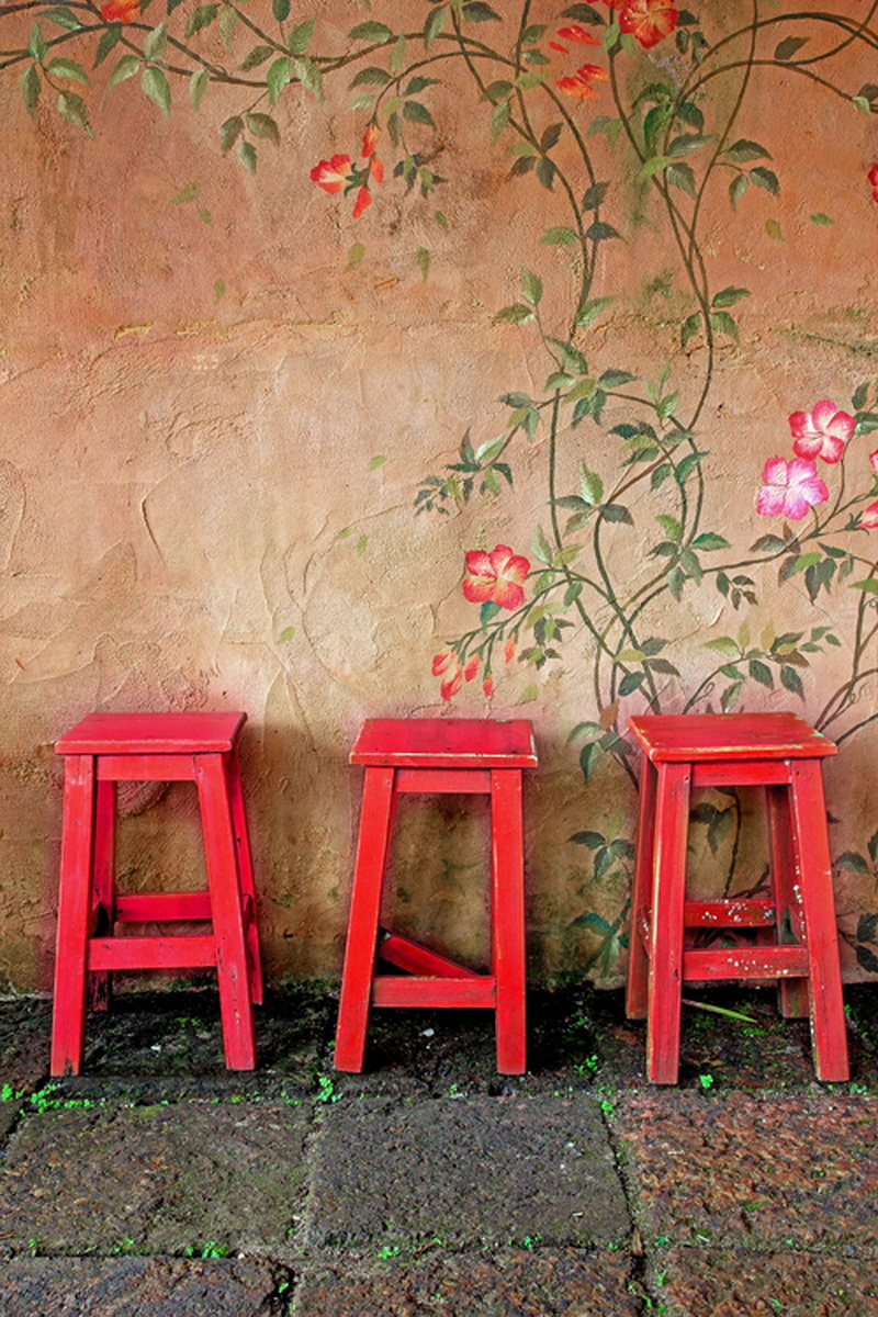 Red chair photography - Huayi Vintage Printed Background Art Fabric Newborn Backdrop Studio Photography Props Red Chair D2448