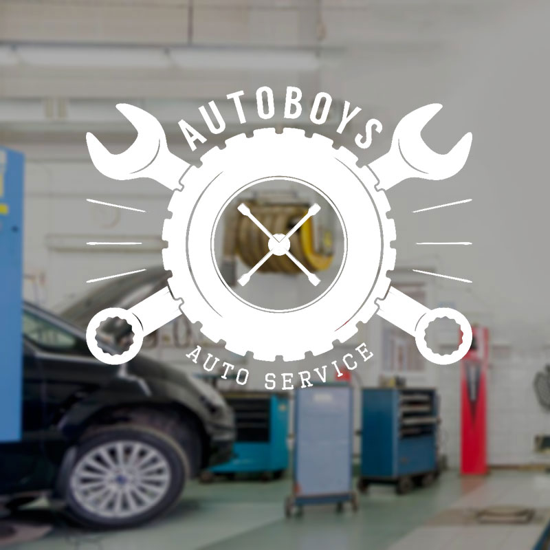 Auto Boys Auto Service Wall Sticker Vinyl Interior Decor Window Decal Garage Shop Tire Tool Mural Removable Wallpaper A102(China)