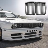VODOOL 1pc Front Kidney Matte Black Grill Grilles Styling Accessory for BMW E30 318 320 325 1982 1994 Auto Vehicle Part