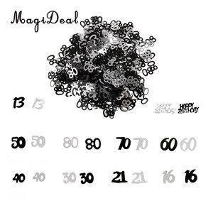 MagiDeal 1 сумка с днем рождения 13th 16th 21th 50th 60th 80th дня рождения, свадьбы, годовщины вечерние Таблица Конфетти Декор декоративная обсыпка