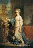 Портрет женщины как Вестал натуральная по Angelica Кауфман картины на холсте Home Decor Ручная роспись высокое качество